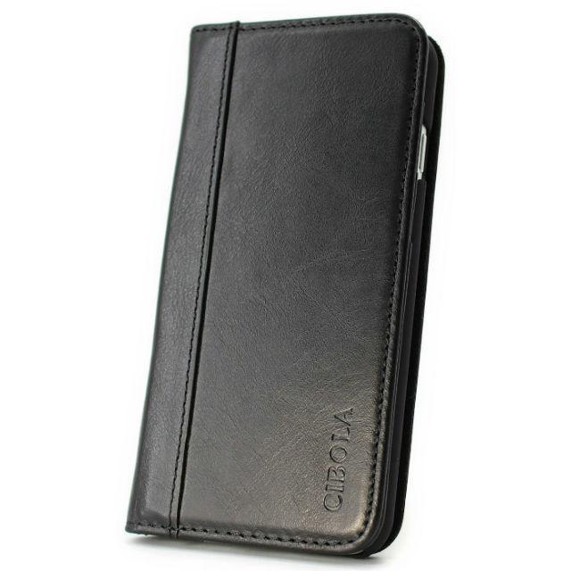 高級牛革 iPhone6s ケース / iPhone6 ケース 手帳型 【 専用箱 保存袋 クロス付 】本革  (iphone6/6S, ブラック)