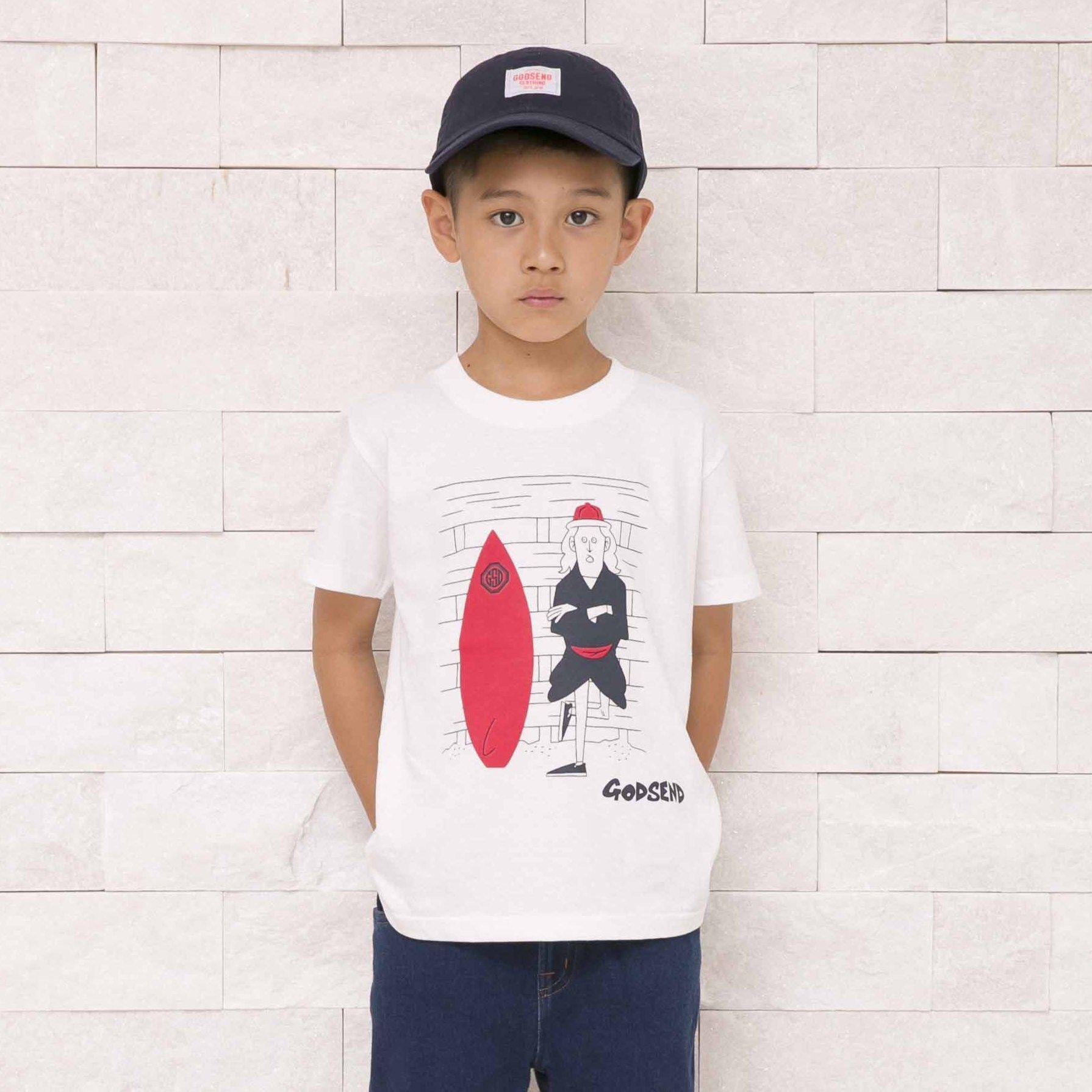 サーファー T-Shirts WHITE  GRAY