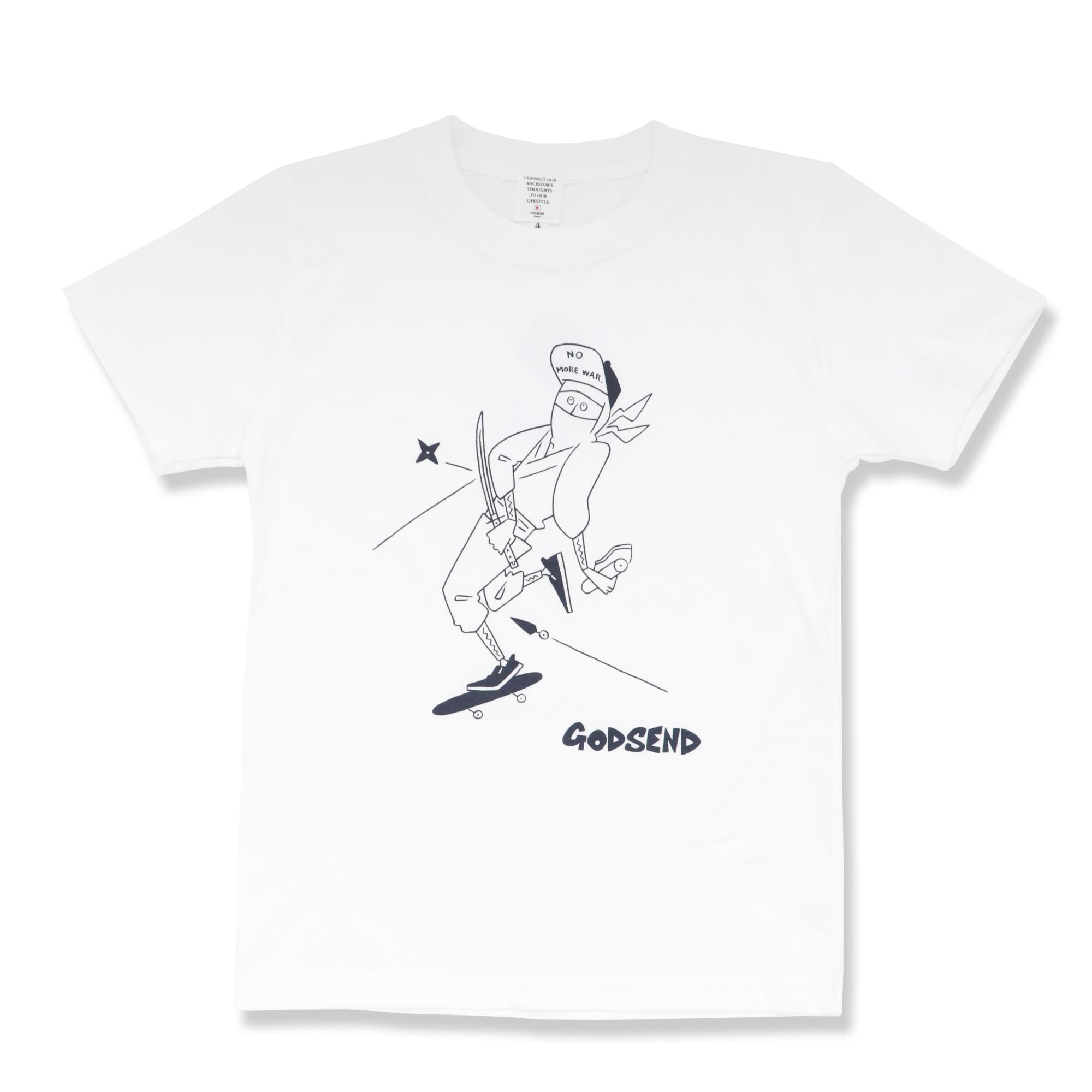 忍者 T-Shirts  ADULT  WHITE  GREY