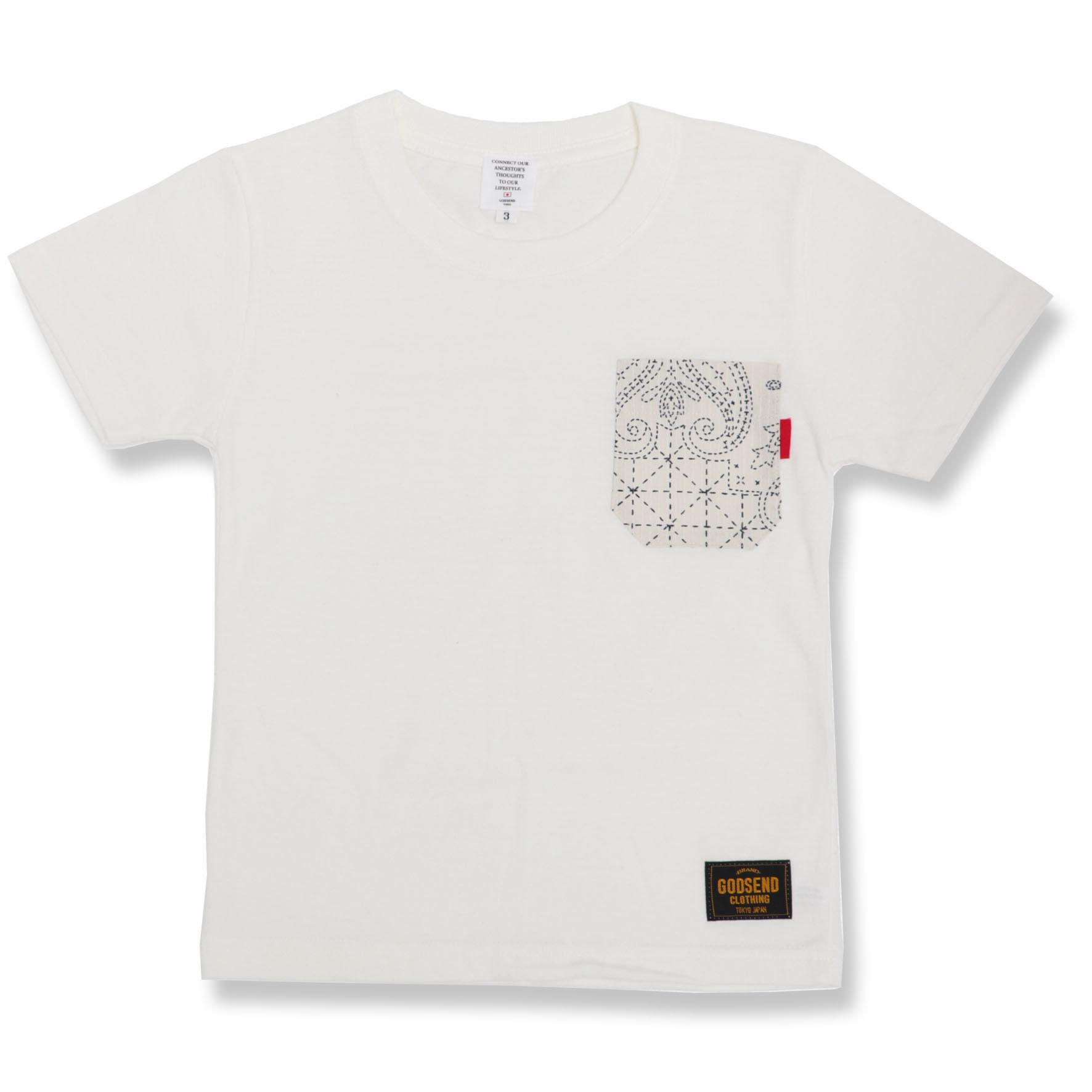 SASHIKO  PAISLEY  TEE ADULT 刺し子ペイズリーTシャツ大人サイズ