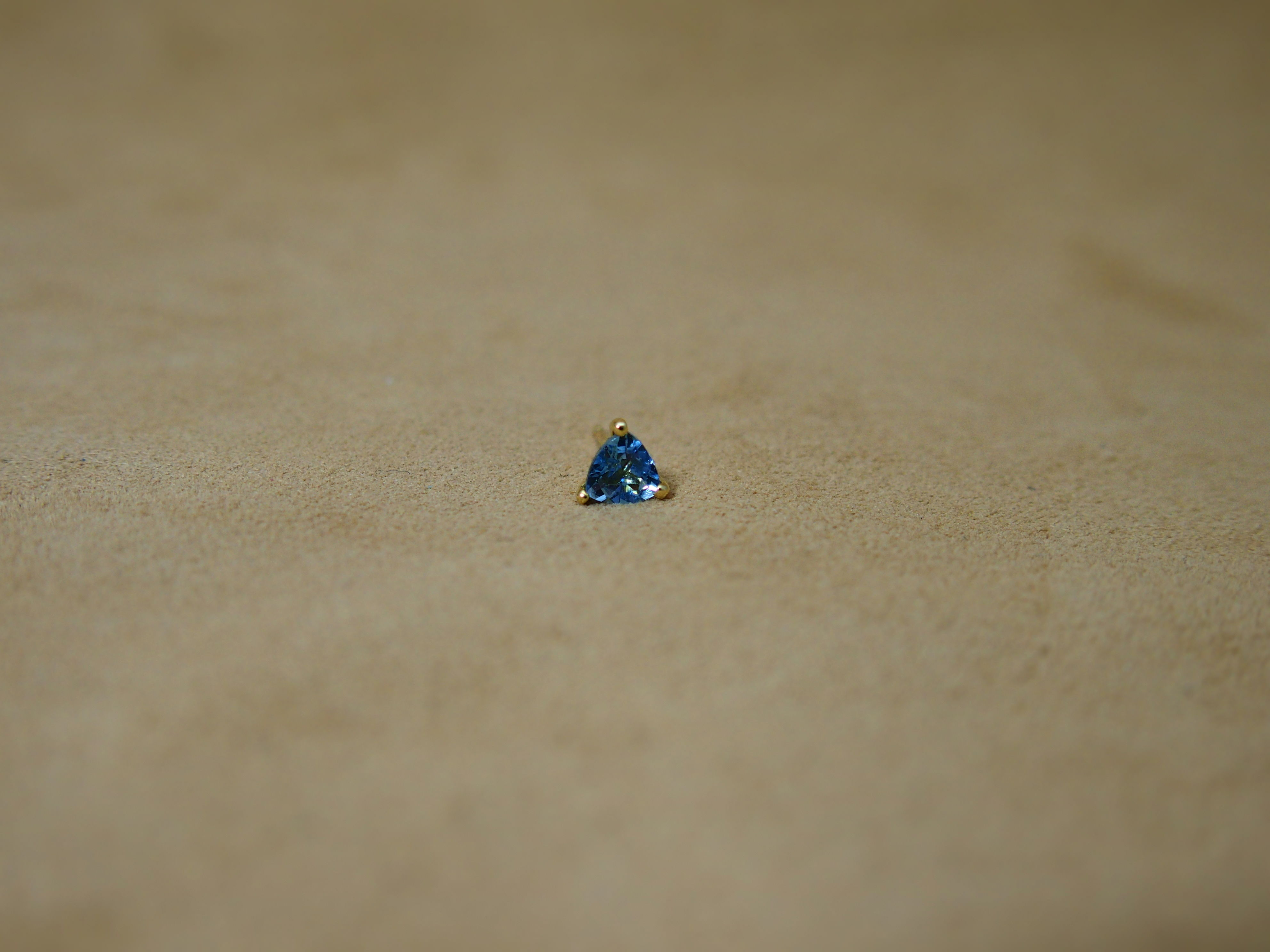 Santamaria-Aquamarine Single Earring(T/g)