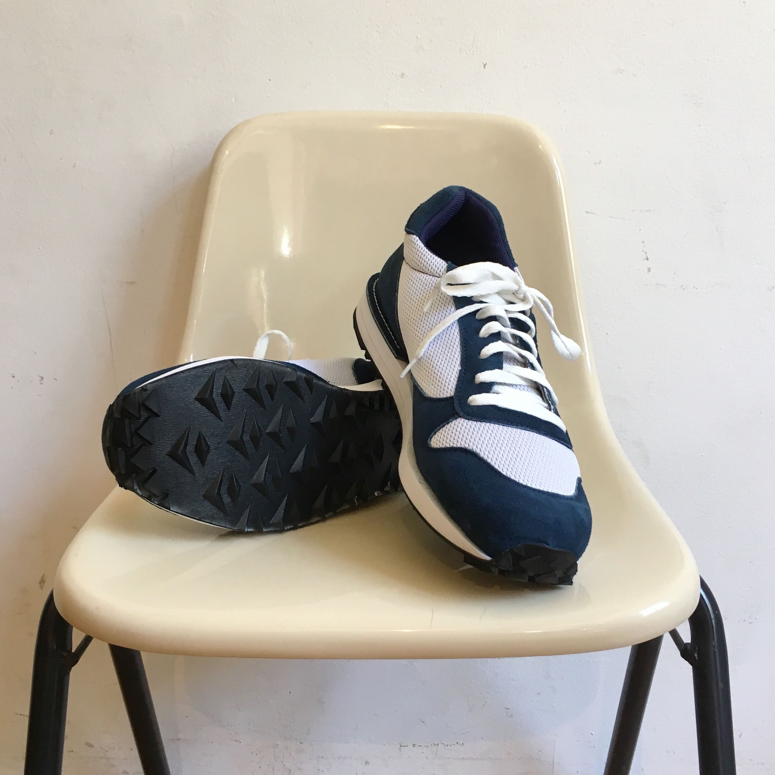 """VICTORY SPORTS WEAR """"Speed"""" Navy Suede× White Mesh Made in USA"""