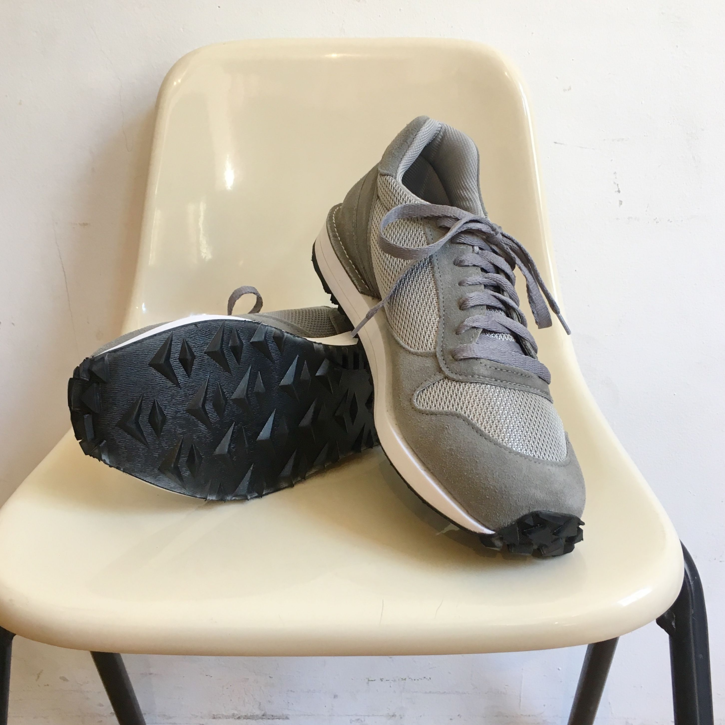 """VICTORY SPORTS WEAR """"Speed"""" Light Grey Suede× Grey Mesh Made in USA"""