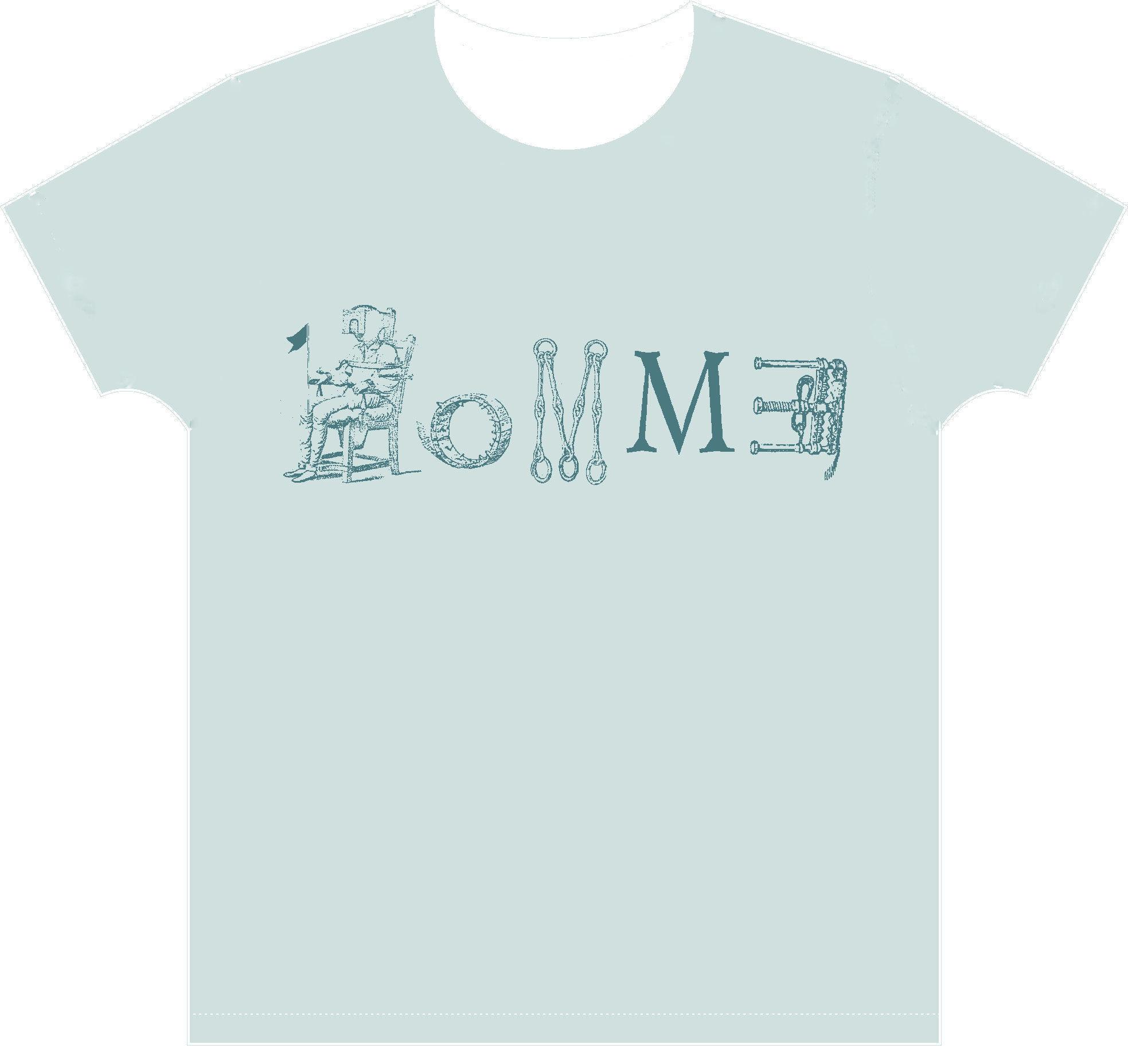 HOMMヨ Tシャツ シャーベットブルー(限定)