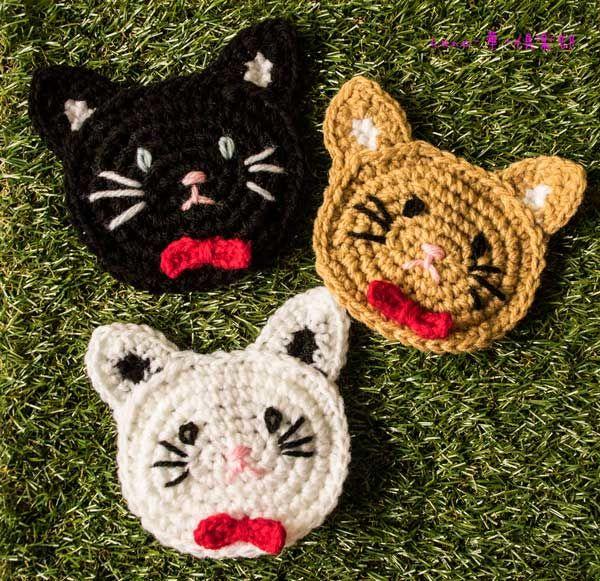 【アクリルたわし】三匹の子猫さん