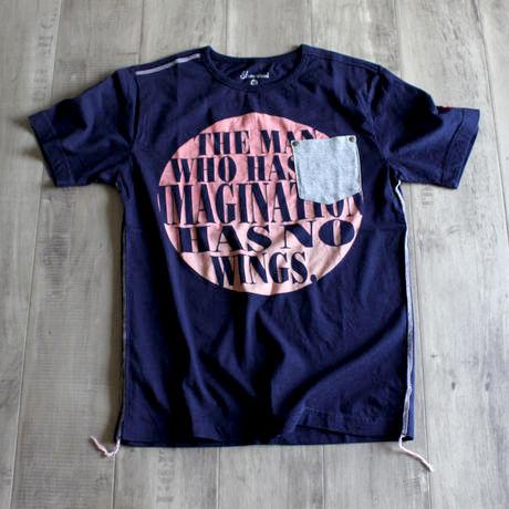 オーバルプリントTシャツ NV
