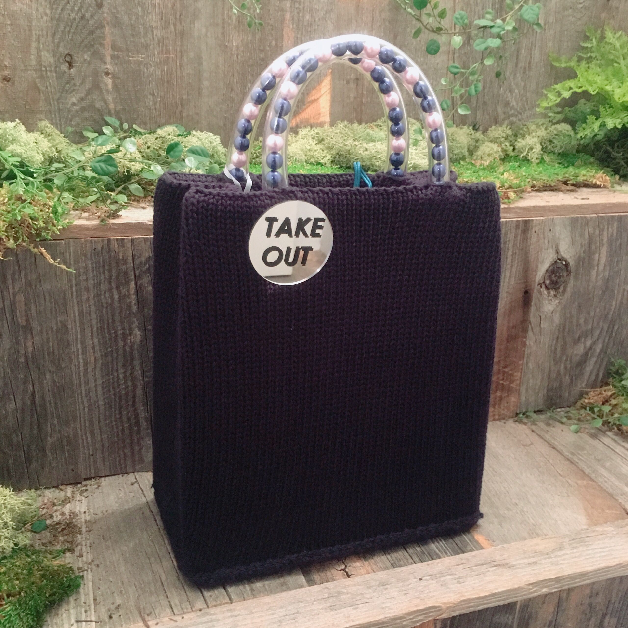 50%OFF!!!acco take out bag -navy-