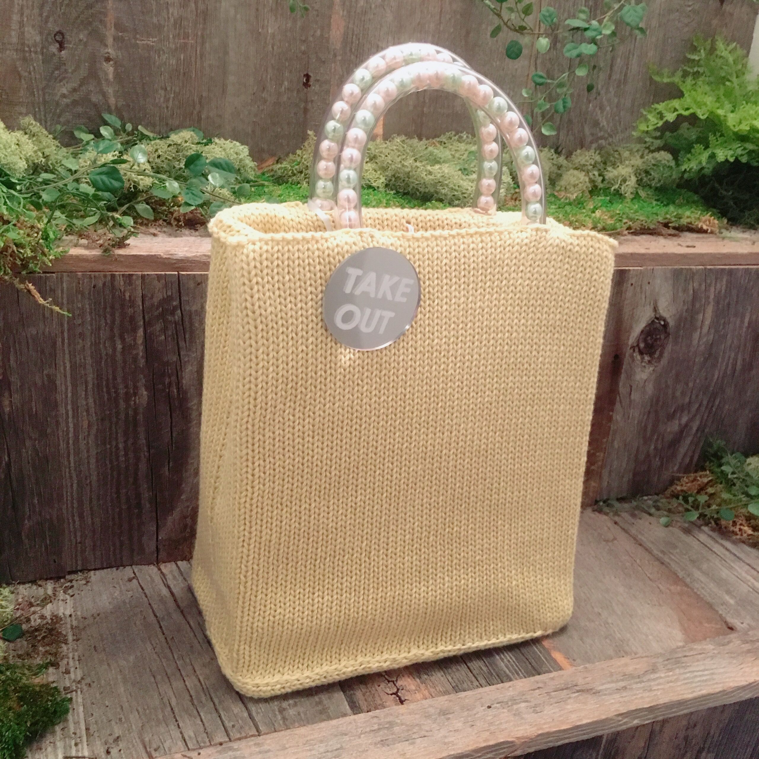 50%OFF!!!acco take out bag -cream-