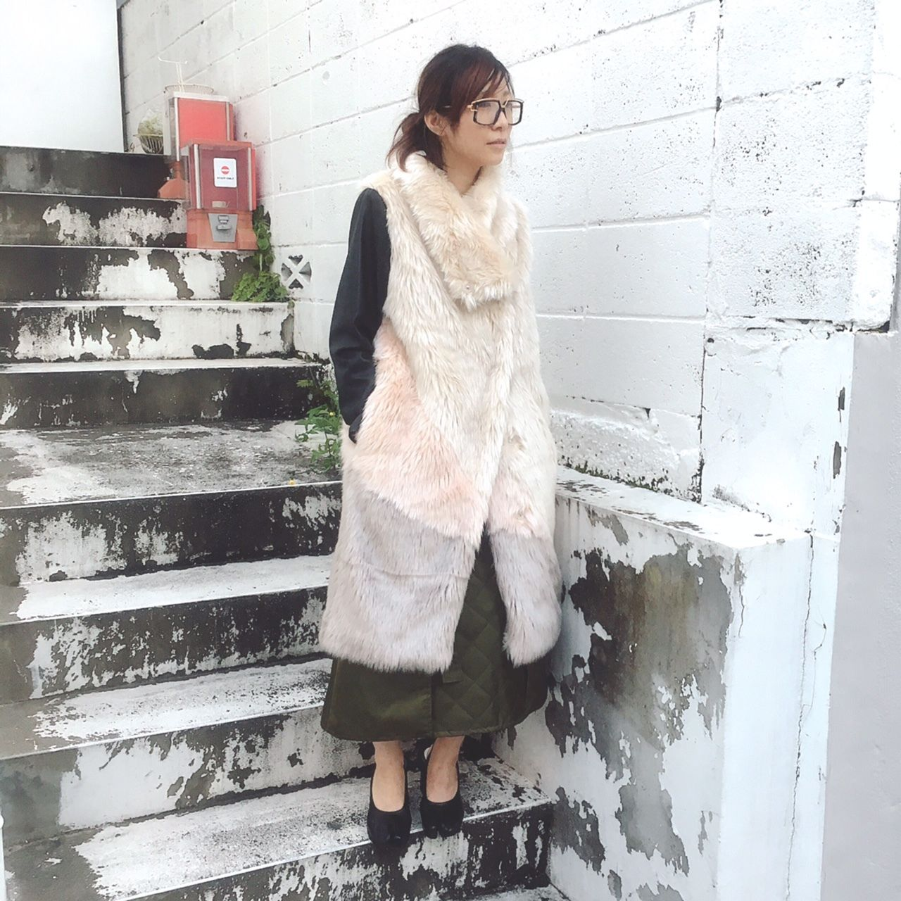 SHIROMA 16-17A/W DARK AGES fur coat -beige-