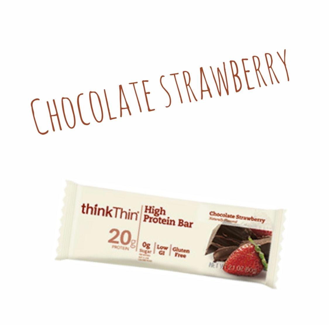 thinkThin プロテインバー チョコレートストロベリー味