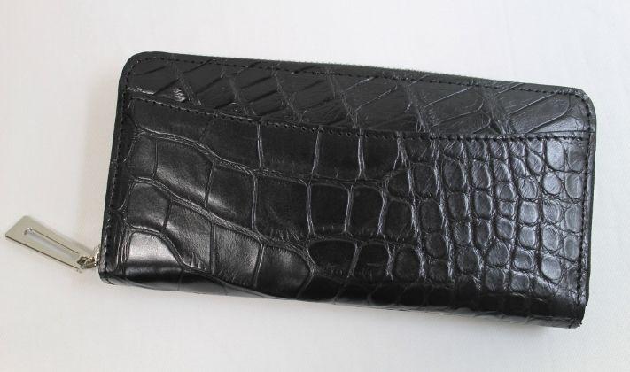 クロコダイル長財布 マット ワニ本革財布 メンズ&レディース 最高級品 ブラック