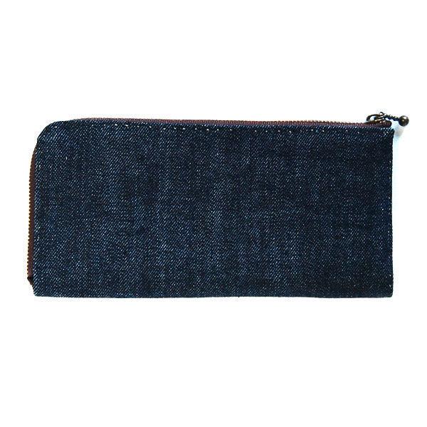 デニム生地の手縫い財布