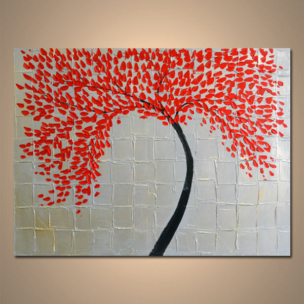 【art gallery】 絵画 モダン アートパネル 手書き 油絵 「木B」 木枠フレーム付