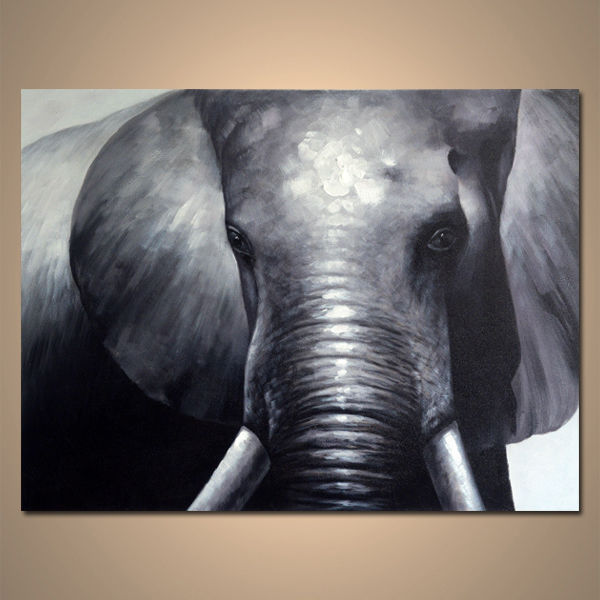 【art gallery】 絵画 モダン アートパネル 手書き 油絵 「象」 木枠フレーム付