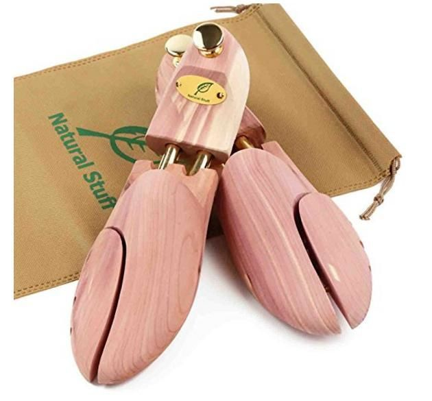 Natural Stuff シューキーパー 木製 メンズ レッドシダー 脱臭 消臭 除湿 型崩れ防止 革靴 シューツリー