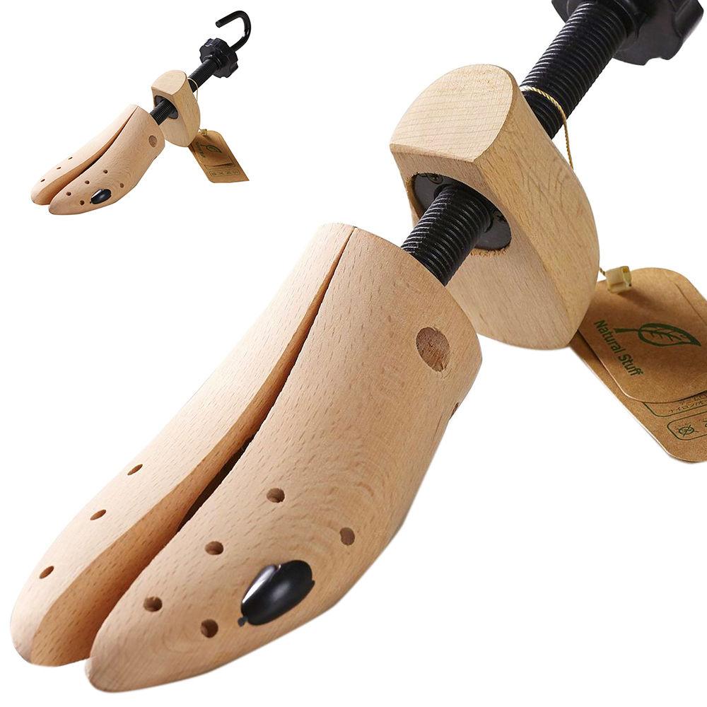 【Natural Stuff】革靴サイズ伸ばし機 シューキーパー シューズフィッター シューズストレッチャー 最高級 ブナの木 木製素材使用 1足=片方のみです