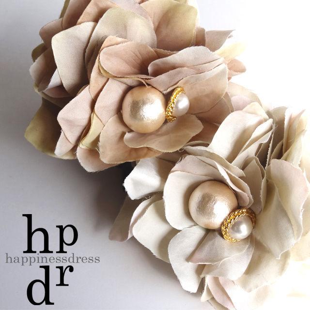 happinessdress(ハピネスドレス)パールサンドローズシュシュ