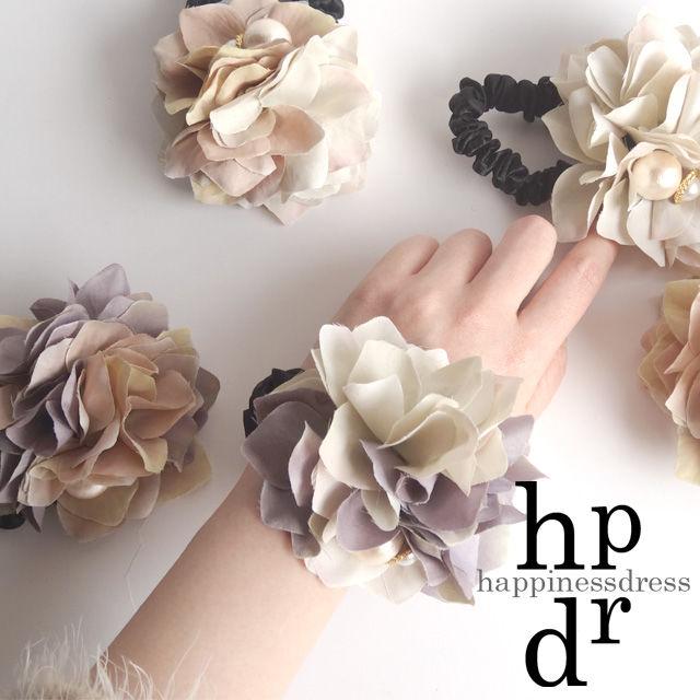 happinessdress(ハピネスドレス)パールサンドローズシュシュ(mix color)