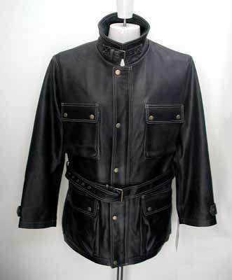 アンティーク 牛革 メンズジャケット Lサイズ