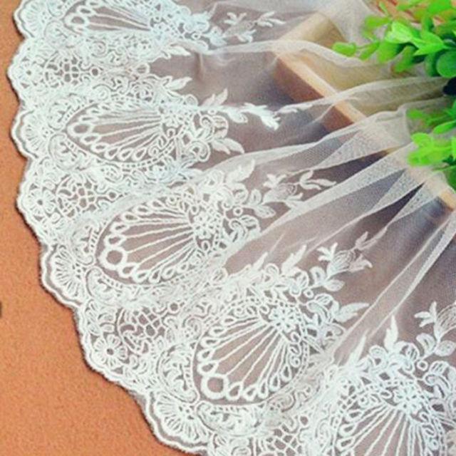 エッジ刺繍チュールレース 23cm幅1ヤードカット
