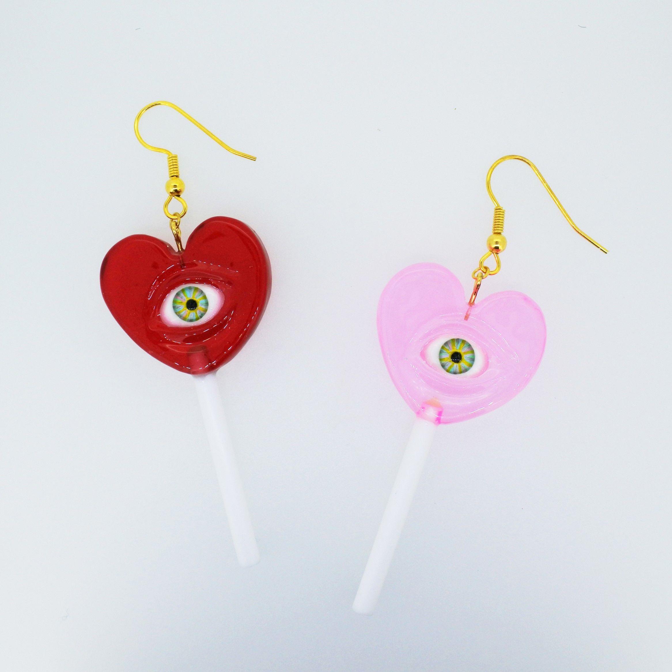 Heart eye candyピアス(片耳)(イヤリング交換可能)