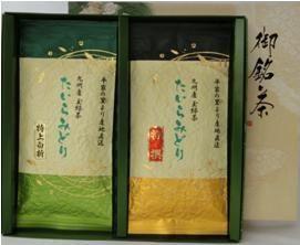 玉緑茶&白折茶袋詰合せ(各100g)