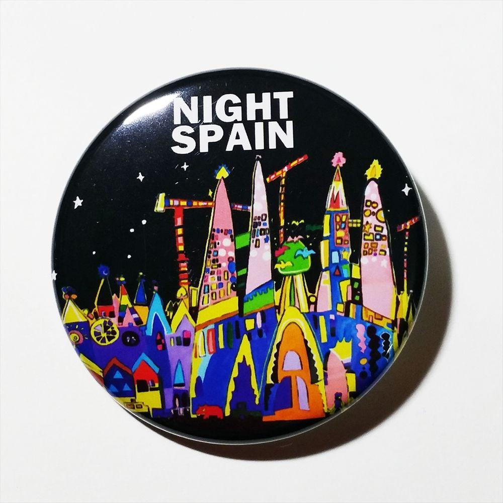 """缶バッチ""""夜のスペイン"""""""