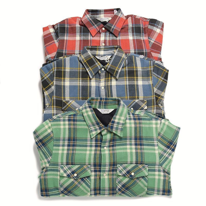 <FIVE BROTHER> HEAVY NEL Quilting Shirts