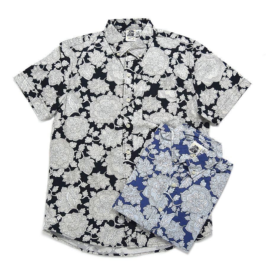 【Kennington】 flower shirts S\SL