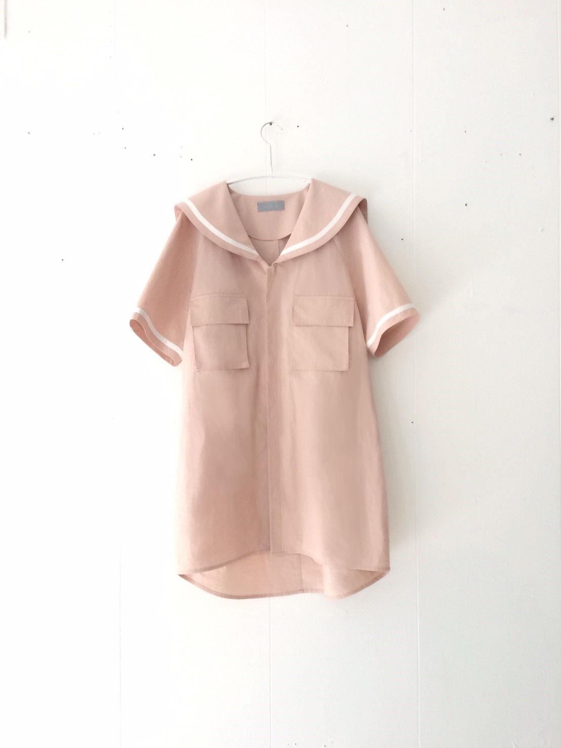 【 1/1~2/14 WEB受注受付中 】夏かしのセーラーカラーシャツ