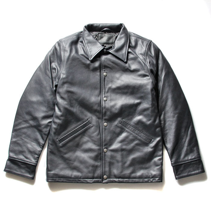 FUCT SSDD LEATHER COACH JACKET NAVY  #41515