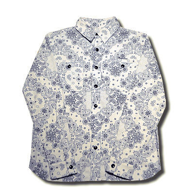 HARDEE PHAISE PAISLEY L/S SHIRT OFF WHITE
