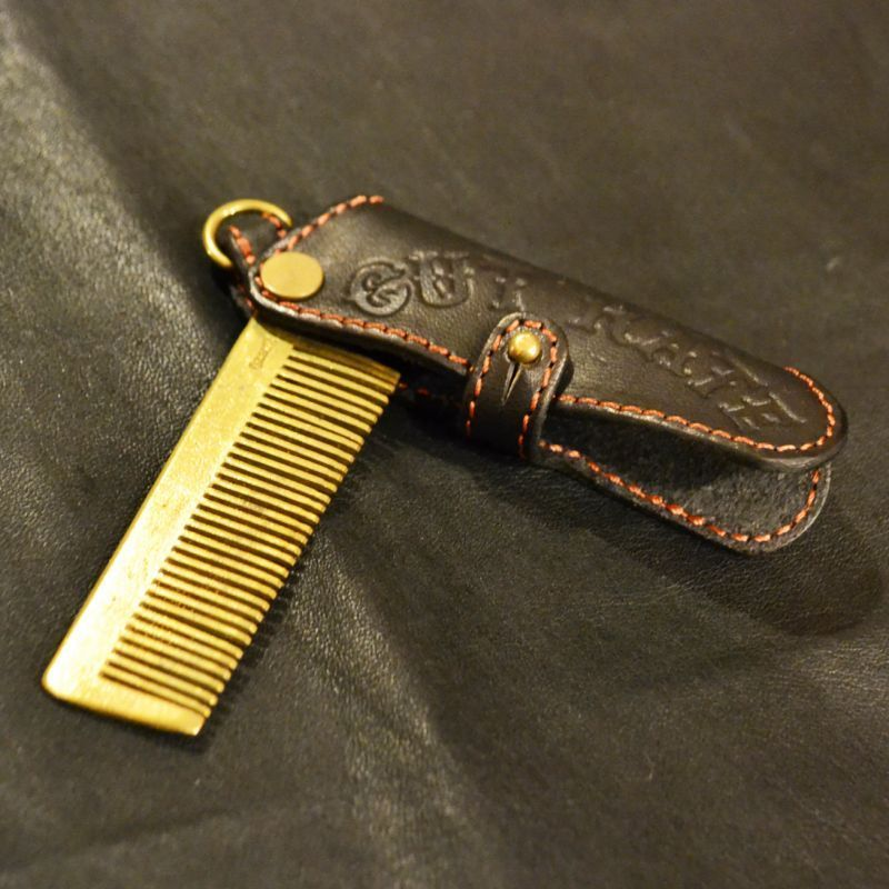 LEATHER COMB BLACK