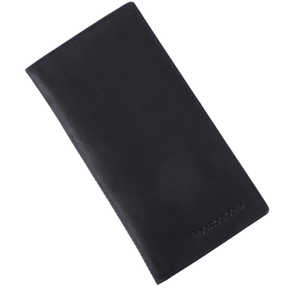 メンズ【本革】・長札・薄型 長財布 カード入れ heessac.com (アンティークレザー・ブラック)