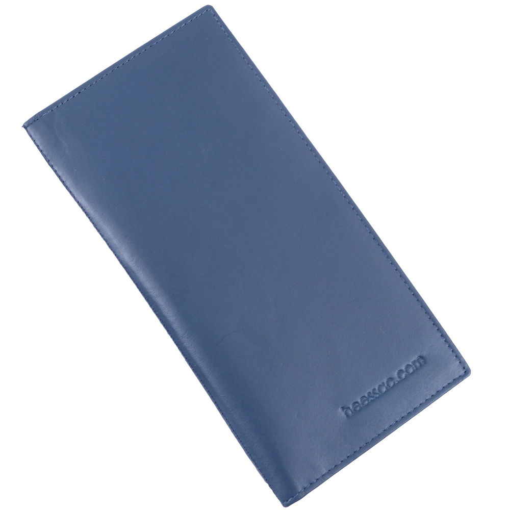 メンズ【本革】・長札・薄型 長財布 カード入れ heessac.com (アンティークレザー・ネイビー)
