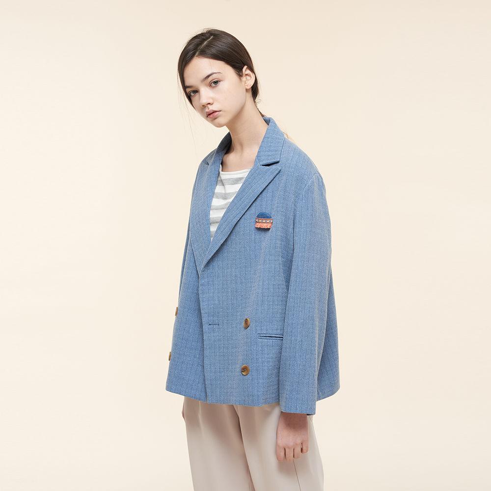 Double-brest cotton blazer HJ9102