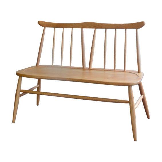ノルン 北欧スタイル 背付きベンチ