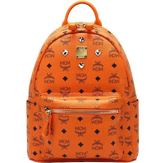 MCM リュック エムシーエム リュックサック バック SMALL STARK BACKPACK スモール スターク バックパック Sサイズ  オレンジ
