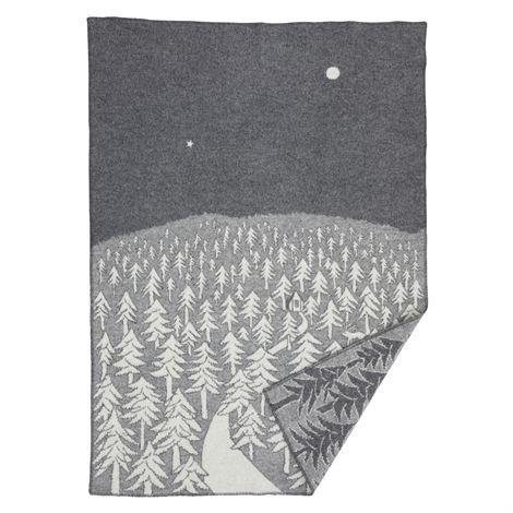 KLIPPAN × min? perhonen 『HOUSE IN THE FOREST』 ラムウール ブランケット