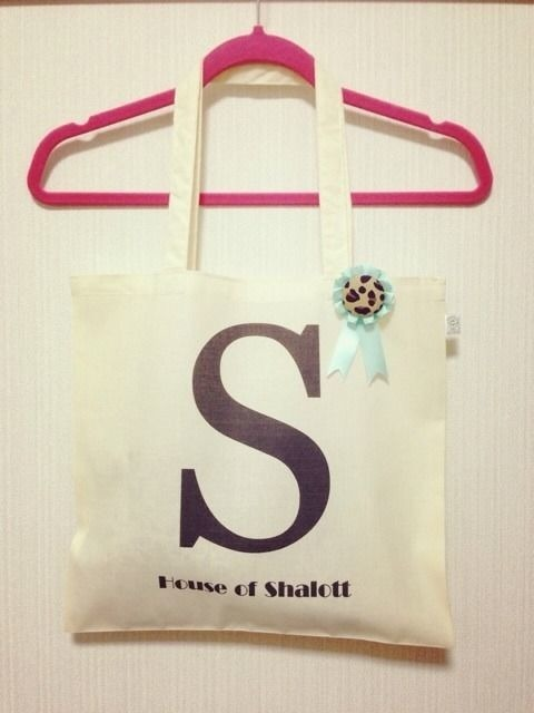 "Alphabet tote with Rosette ""S"""