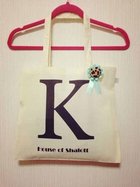 "Alphabet tote with Rosette ""K"""