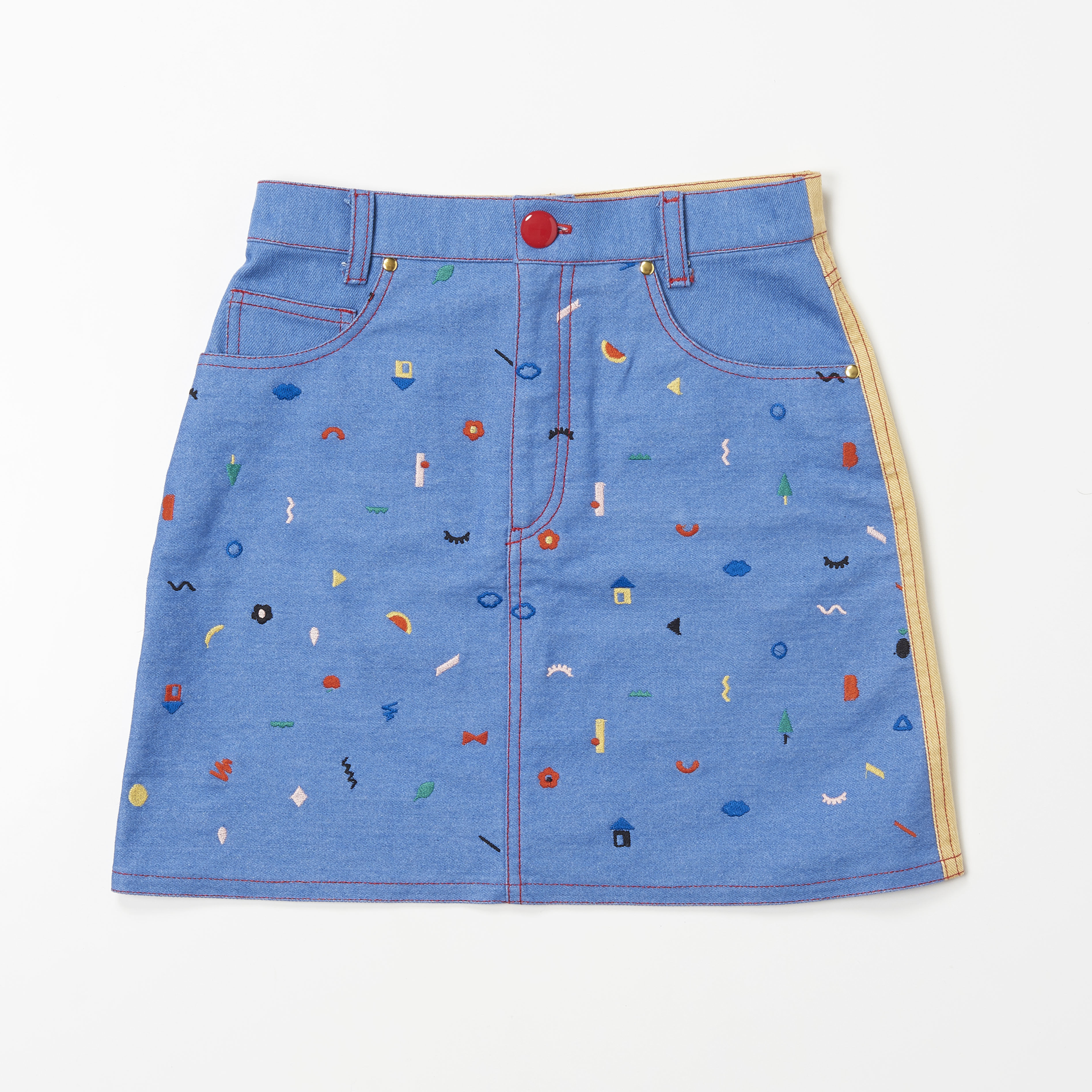 Doodle  Stitch Skirt (YELLOW)