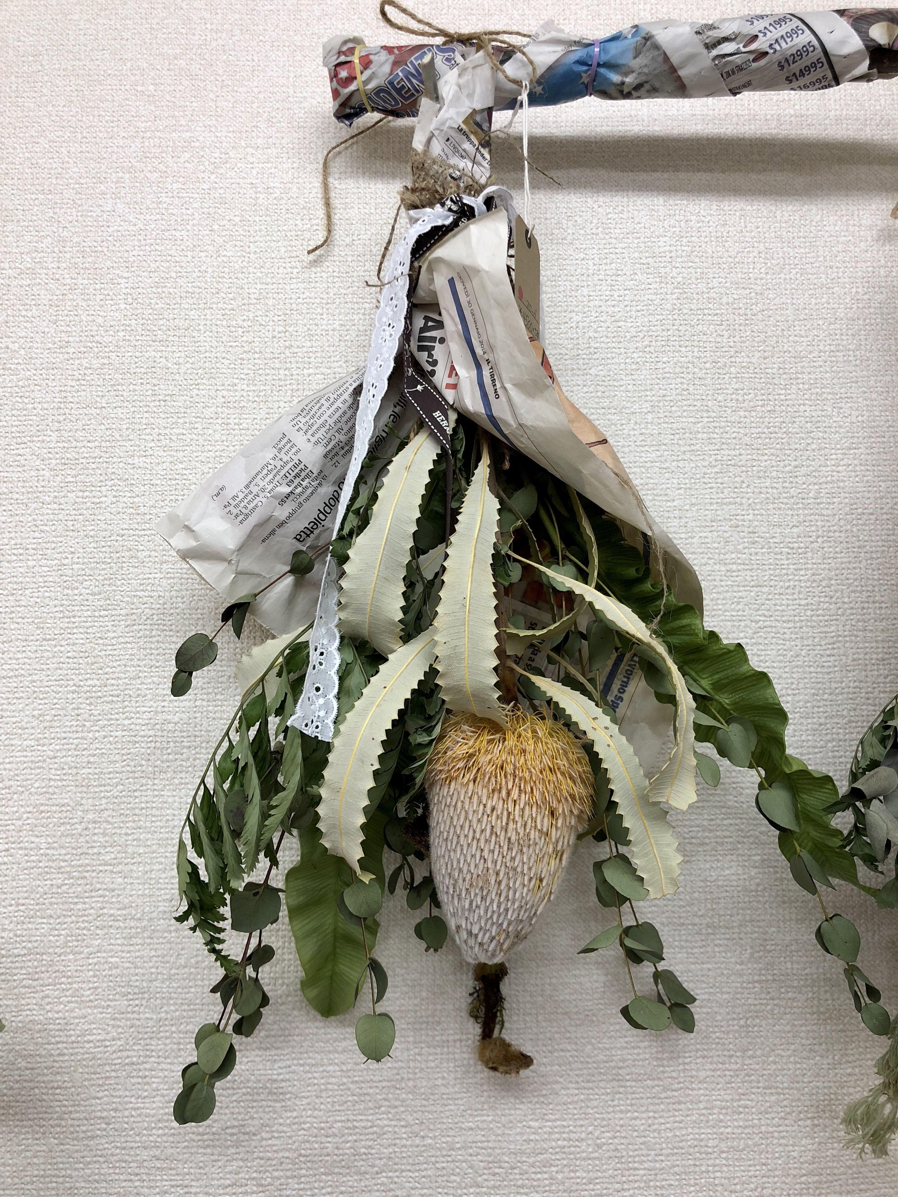 大きなお花のスワッグ②