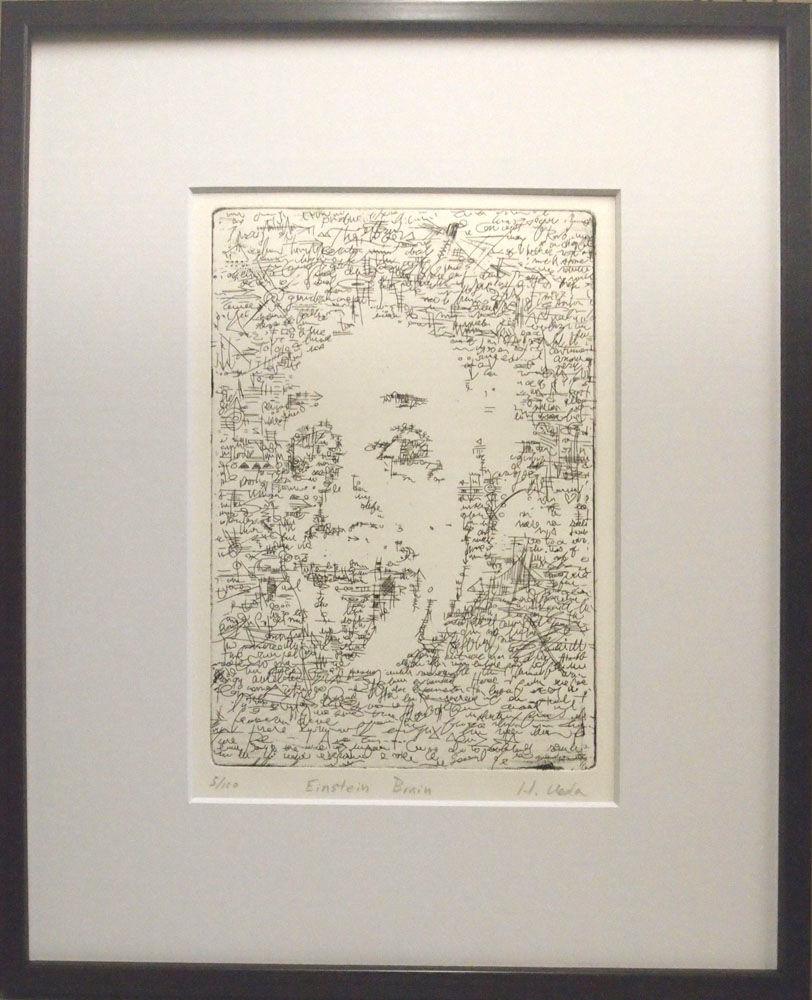 銅版画:アインシュタイン ブレイン