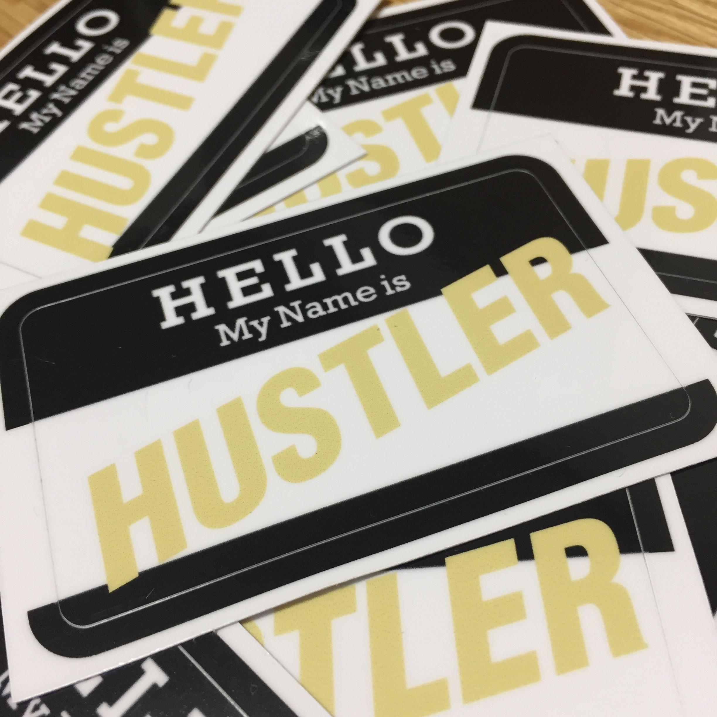 HUSTLER STICKER