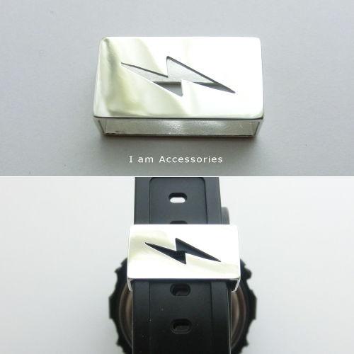 【IWA0001】【受注生産商品】ライトニングボルト ウォッチアクセサリー シルバー925【遊環】【ベルトループ】