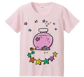 親子ペアTシャツピンク