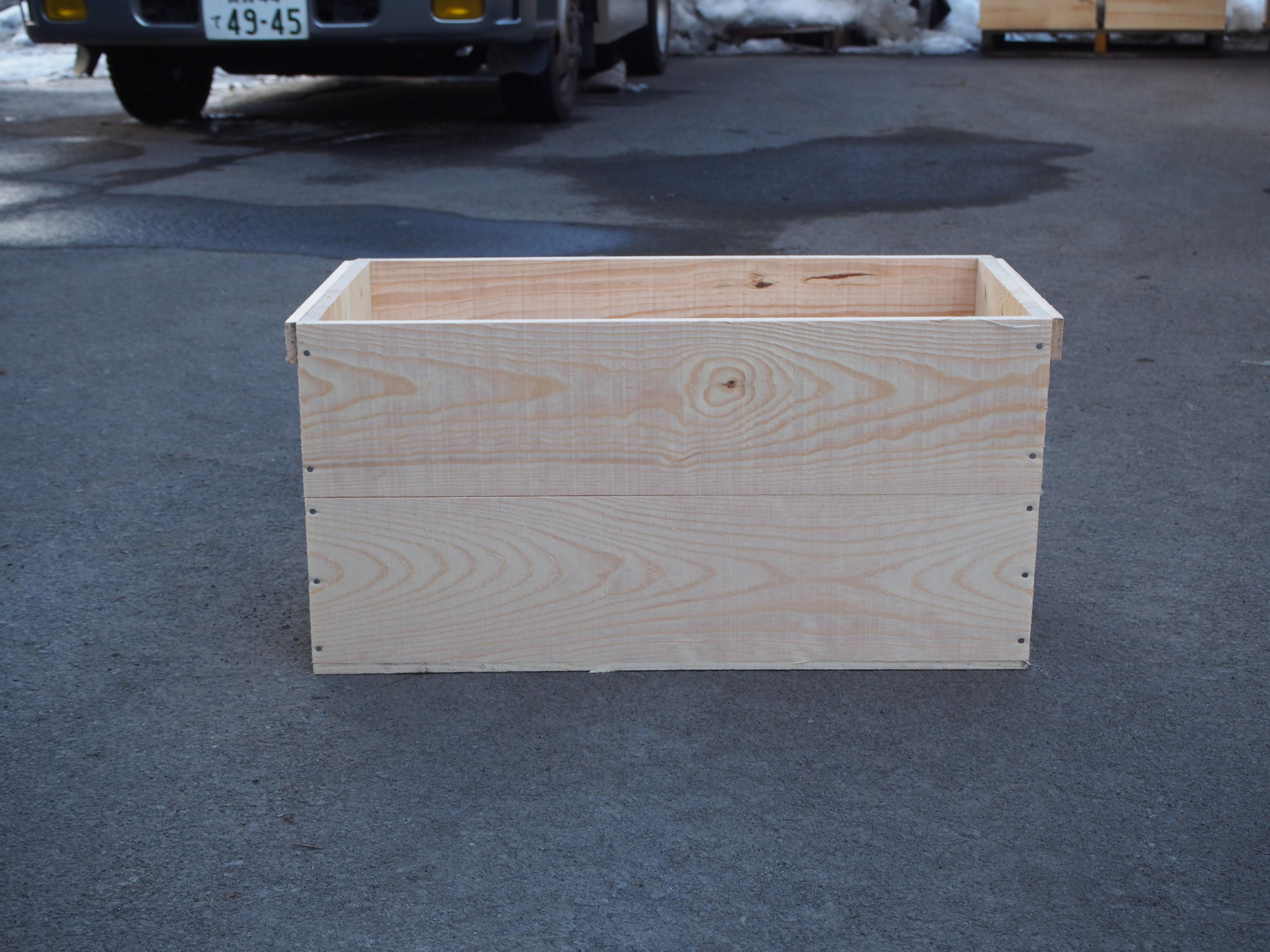 りんご収穫用木箱(松の木材)個数:新品限定販売【送料無料】