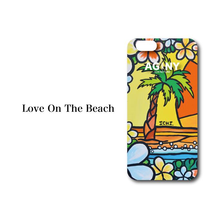 "iPhone 6/7/8/X 対応 ハードケースカバー ""Love On The Beach"""
