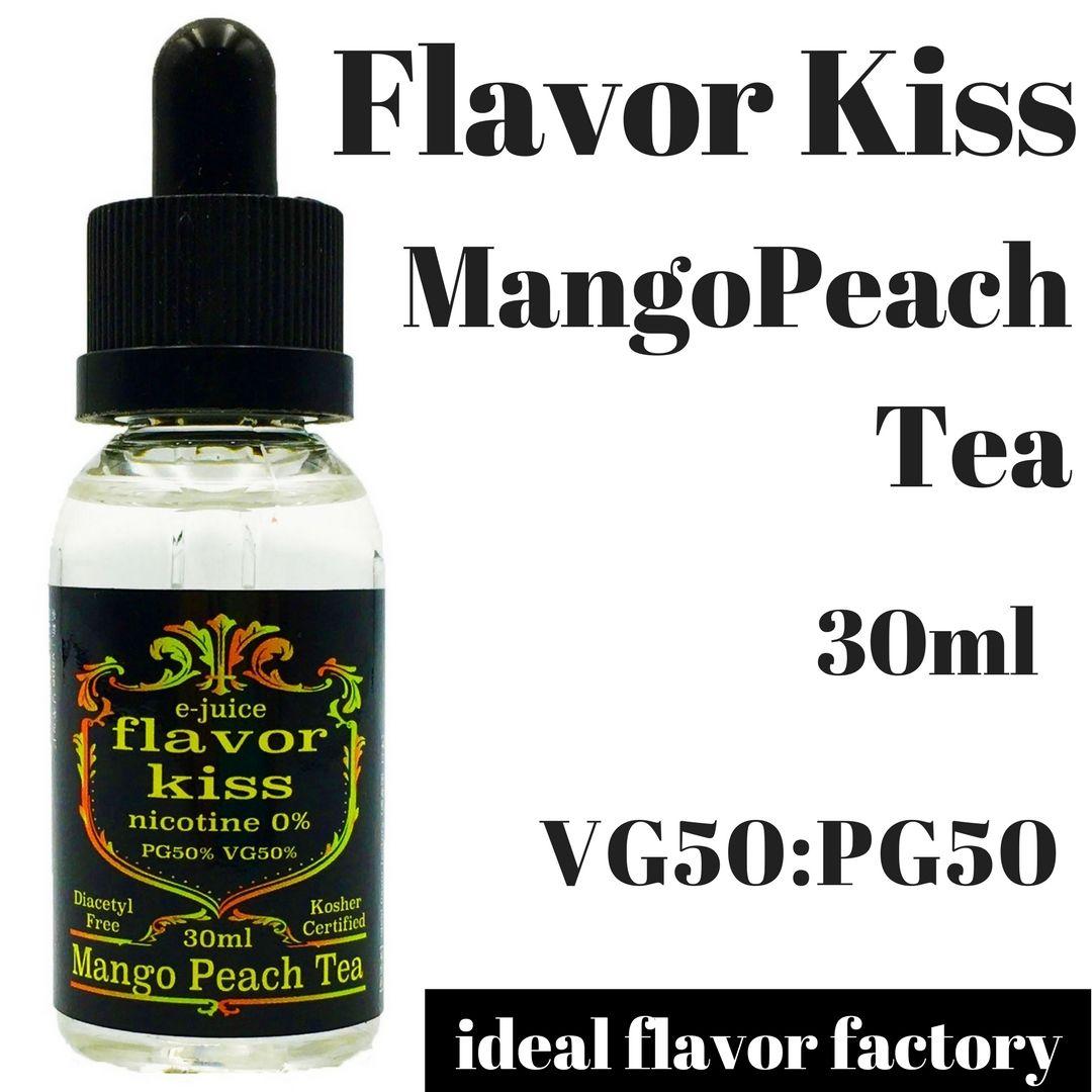 【シェフが作るクラフトリキッド】  VAPE 電子タバコ 国産 リキッド 爆煙 Flavor Kiss  マンゴーピーチティー味 (30ml)